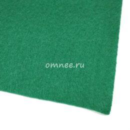 Фетр листовой жёсткий 1,2 мм, 20х30 см, цв.: 667 т. Зелёный