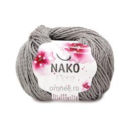 Nako FIORE 11239 серый , 25% лен, 35% хлопок,40% вискоза, 50 гр.150 м