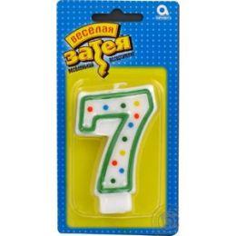 Свечи для торта цифра 7 7.6см