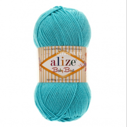 Alize Baby best 287 (бирюза), 100гр. 240м. 90%акрил, 10% бамбук