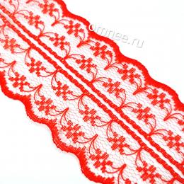 Кружево капрон, цв.: красный, ширина 45 мм