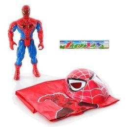 Спайдермен 010 A (96шт) фігурка супергероя 30см, світло, маска, плащ, в кульку, 31-33-9см