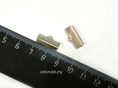 Зажим для лент , 16 мм, цв.:серебро, шт.