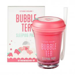 ETUDE HOUSE Ночная маска с экстрактом клубники Bubble Tea Sleeping Pack Strawberry