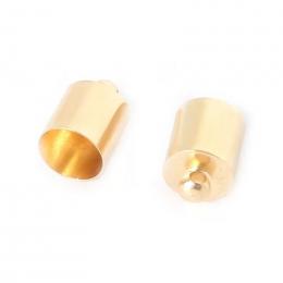 Концевик для шнура круглый, 7х11мм, цв.: золотой