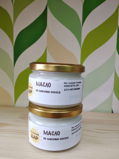 "Кокосовое масло ""Солнечный дар"" 250 мл."