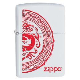 Зажигалка ZIPPO Classic с покрытием White Matte, латунь/сталь, белая, матовая