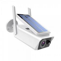 XMEye-550WB2.(Пластик/Белая). 1080P. 2Mpx. Камера видеонаблюдения IP Wi-fi c аккумулятором и солнечной батареей.