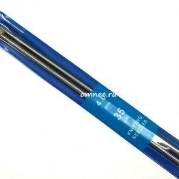 Спицы 35 см № 4 металлич., прямые с наконечником