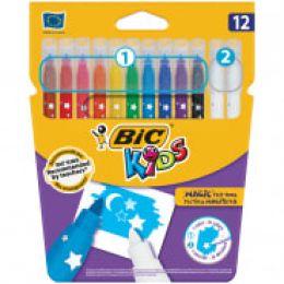 фломастеры 10+2цв обесцвечивающих BIC Kids Magic 920296 1314669
