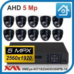 Комплект видеонаблюдения на 10 камер XMEye-KIT1625AHD300PB-10.