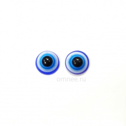 Глаза 6 мм, цв: голубой ''Назар''