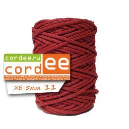 Шнур Cordee, ХБ5 мм, цв.:11 бордовый