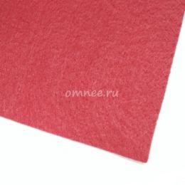 Фетр листовой мягкий 1,2 мм, 20х30 см, цв.: 607 красный