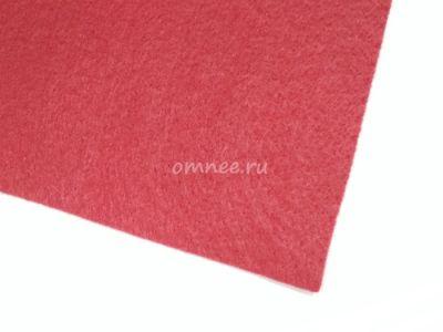 Фетр листовой мягкий 1,2 мм, 25х25 см, цв.: 607 красный