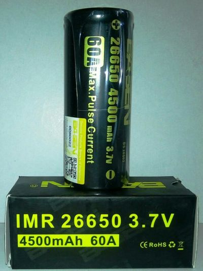 Аккумулятор 26650, BASEN 4500 mAh, 60A