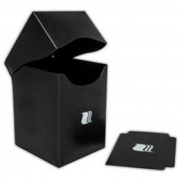 Пластиковая коробочка Blackfire вертикальная - Чёрная (100+ карт)