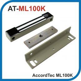 Accordtec. ML-100K. Серый. Электромагнитный замок с уголком. Усилие 100 кг.