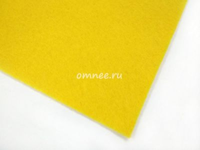 Фетр листовой мягкий 1,2 мм, 20х30 см, цв.: 643 жёлтый