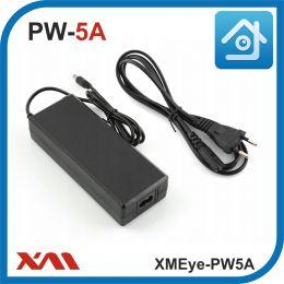 XMEye-PW5A. 12 Вольт. 5 Ампер. Импульсный блок питания для камер видеонаблюдения.