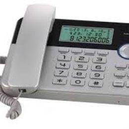 Телефон проводной Texet TX-259 черно-серебристый
