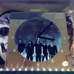 Часы стеклянные под сублимацию 20х20см