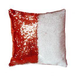 Подушка с пайетками 40*40см (красная)
