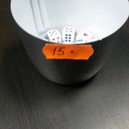 Кубик D6 белый
