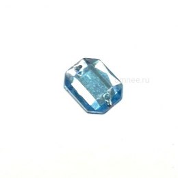 Стразы пришивные, 10х8 мм, цв.: голубой, шт.