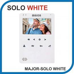 MAJOR SOLO WHITE. Видеодомофон 4 дюйма. 2 панели - 2 аудио трубки.