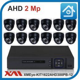Комплект видеонаблюдения на 12 камер XMEye-KIT1622AHD300PB-12.