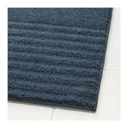 ВОКСШЁН Коврик для ванной, темно-синий 40 х 60 см