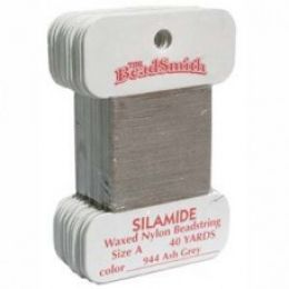 Нитки Silamide цвет пепельно-серый / размер A / 36,5м / 1шт