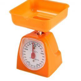 Весы кухонные LuazON LVKM-501, до 5 кг, шаг 40 г, чаша 1200 мл, пластик, оранжевые