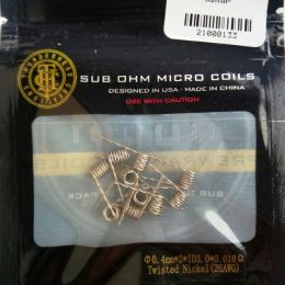 коил:Twisted Nickel Coil 0.4mm Φ0.4x2xID3.0x0.018Ω