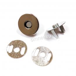 Кнопка магнитная, 18 мм, цв.: никель