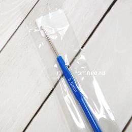 Крючок вязальный №3,5 стальной с пластиковой ручкой, шт.