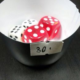 Кубик D6 в ассортименте