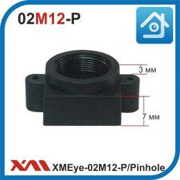 XMEye-02М12-P. Pinhole. Держатель объектива М12 для камер видеонаблюдения. Пластик.