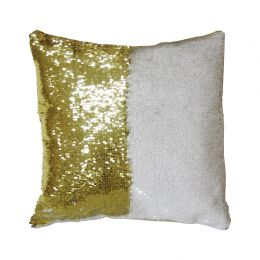 Подушка с пайетками 40*40см (золото)