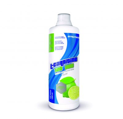 MYNUTRITION, L-carnitine liquid, бутылка 1000мл. Мохито