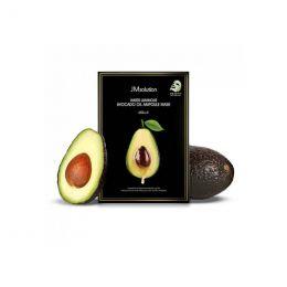 JMSOLUTION Water Luminous Avocado Oil Ampoule Mask Black Увлажняющая маска с экстрактом авокадо