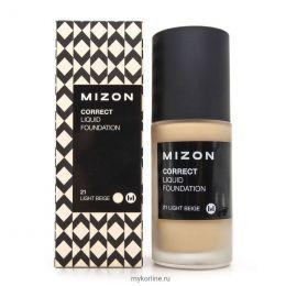 MIZON Увлажняющая тональная основа под макияж Correct Liquid Foundation SPF 25 PA++ #21 Light Вeige