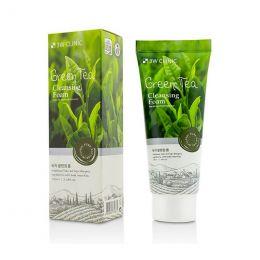 3W Clinic Green Tea Foam Cleansing 100ml Очищающая пенка для умывания с зеленым чаем