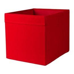 ДРЁНА Коробка, красный, 33 х 38 х 33 см