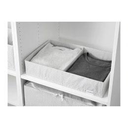 СТУК Ящик с отделениями, белый/серый, 34 х 51 х 10 см