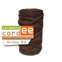 Шнур Cordee, ПЭ4 мм,100м, цв.:31 коричневый