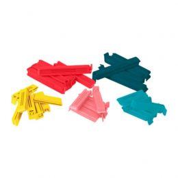 БЕВАРА Зажим для пакетов, 30 штук, разные цвета, различные размеры, 1 шт