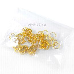 Колечки соеденительные 5мм, цв.:золото, 50 шт