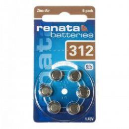 Батарейка RENATA 312 1,45В для слухового аппарата 6шт